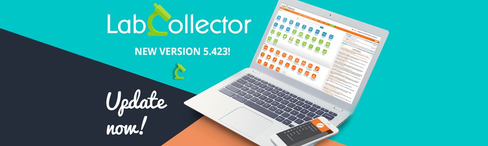 LabCollector v5.423 release news update