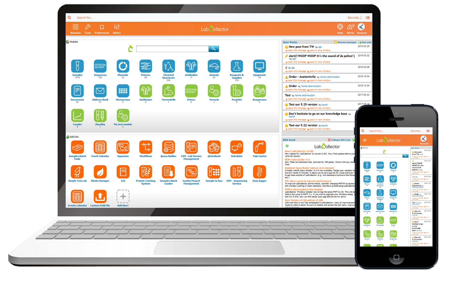 LabCollector laboratory management software