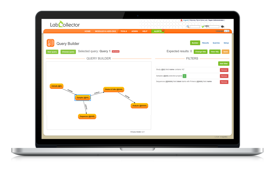 LIMS Report Query Builder